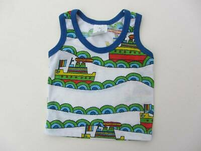 vintage New old stock 70's summer  vest top 9 months sailing boats sea beach