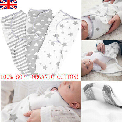 3Pc Baby Swaddle Wrap Newborn Dimple Infant Bedding Blanket Sleeping Bag Cotton