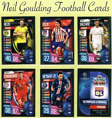 Champions League MATCH ATTAX 2019/2020 ☆ Football Cards ☆ #143 to #216 [UK]