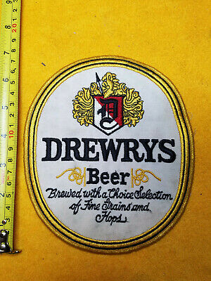 "Vintage Rare Large Drewrys Beer Patch 7"" X 6"""