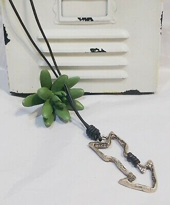 Brown Leather Necklace with Gold Arrow Fashion Jewelry for Women and Girls