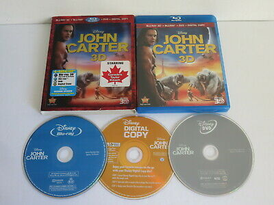 John Carter Blu Ray Bluray Missing 3D Canada Exclusive  Lenticular Slipcover