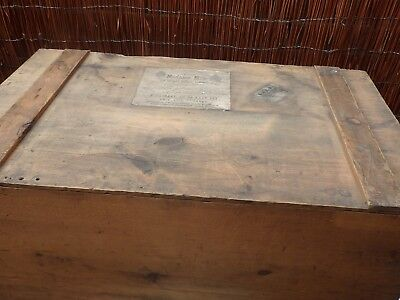 Madame Elise London Victorian Large Pine Trunk/ Packing Case. L & Y R c 1880