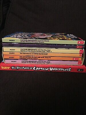 Captain Underpants Childrens Books Dav Pilkey Set Lot 7