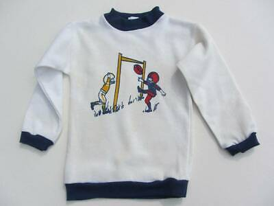 vintage American football top long sleeves age 3-4 white blue 60's