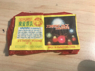 Vintage Horse Brand Jumping Jack Fire Works Label Kwangtung