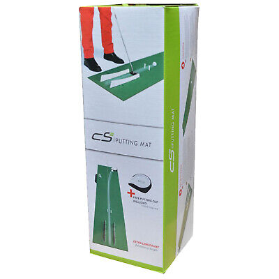 Ian Poulter CS2 Putting Mat Golf Training Aid Putting Practice Free putting Cup