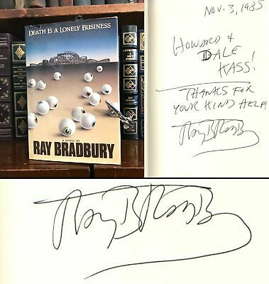 Death Is a Lonely Business HAND SIGNED by Ray Bradbury! Fahrenheit 451 Author!