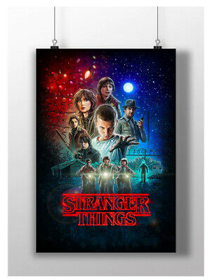 Stranger Things Poster Tv Series Film Wall Art Image A3 A4 Size