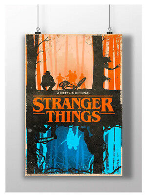 Stranger Things Poster Film Tv Series  Wall Art Image A3 A4 Size