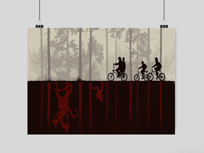 Stranger Things Poster Film Tv Series  Wall Art A3 A4 Size