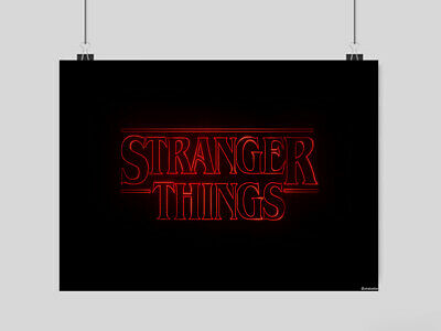 Stranger Things Poster Film Tv Wall Art A3 A4 Size