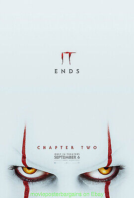 Stephen King's IT Chapter 2 MOVIE POSTER Rare 2nd Advance Style DS 27x40 N.Mint