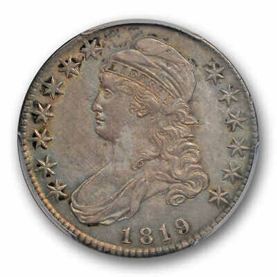 1819 50C Capped Bust Half Dollar PCGS AU 50 About Uncirculated