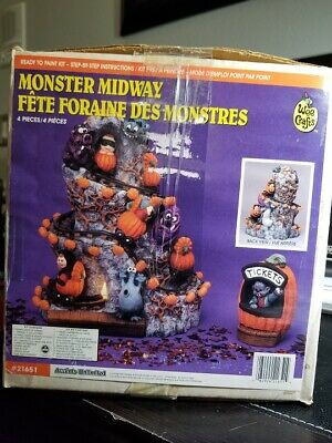 Accents Unlimited Wee Crafts Halloween Monster Midway# 21651 - RARE