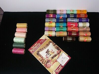 26 NEW 6 Used Spools Pretty Punch SHOPPETTES Punch Needle EMBROIDERY Thread