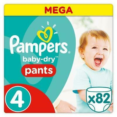 PAMPERS Baby Dry Pants Taille 4 - 9 a 15 kg - 82 Couches-culottes - Mega Pack