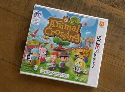 New - ANIMAL CROSSING New Leaf NINTENDO 3DS Game Sealed - White Label Version