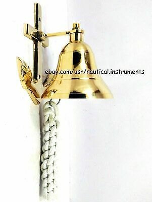 New Nautical Solid Brass Wall Hanging Ship Bell Anchor Door Bell