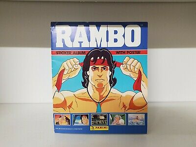 Vintage Rambo Sticker Album With Poster 100% Complete (35a)