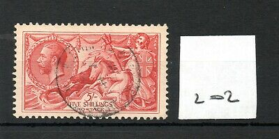 GB - GEORGE V (202) - Seahorses - 5/-d - Fine cancellation  - see both scans