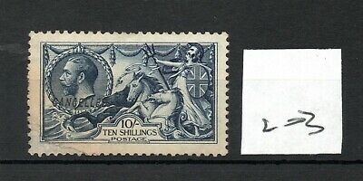 GB - GEORGE V (203) - Seahorses - 10/-d - Cancelled  No gum - repaired see scans