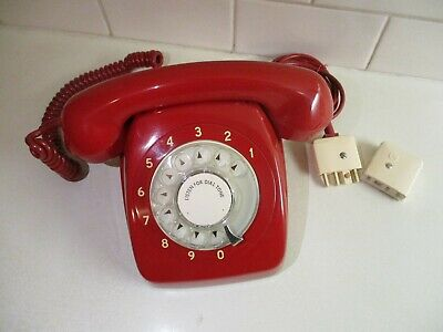 1971  RETRO AWA LACQUER RED Telephone Working & Restored. Indefectible Quality