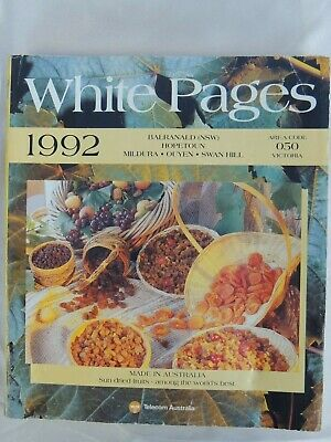 White Pages Telephone Book including the Yellow Pages 1992
