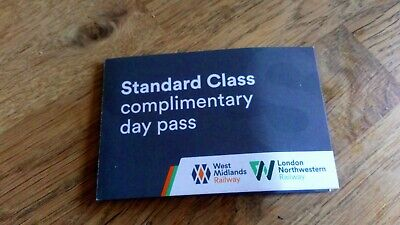 1 day Unlimited train travel West Mid/London NW Railway to 31.12.19(2 available)