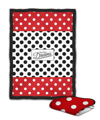 Dotted Live Your Dreams Blanket (40X30 inch) / (60x50 inch) / (80x60 inch)