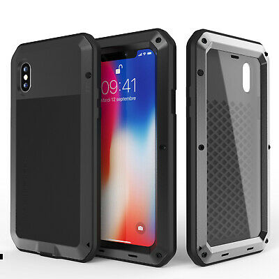 For Apple iPhone 6 6S 7 8 Plus XR XS MAX Metal Shockproof Heavy Duty Case Cover