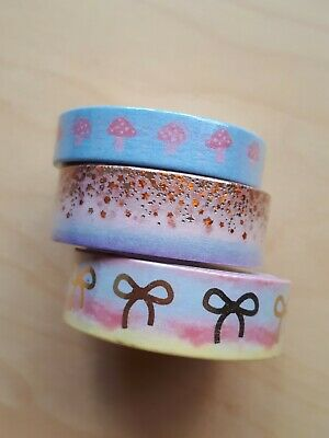 Simply Gilded Set Of 3 Cozy Crisp August Washi Tape