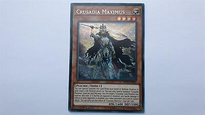 "YUGIOH!! ""Crusadia Maximus"" MP19-EN081! Prismatic Secret Rare! NM! 1. Edition!"
