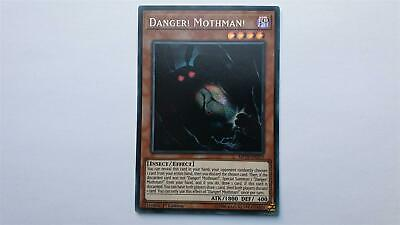 "YUGIOH!! ""Danger! Mothman!"" MP19-EN219! Prismatic Secret Rare! NM! 1. Edition!"