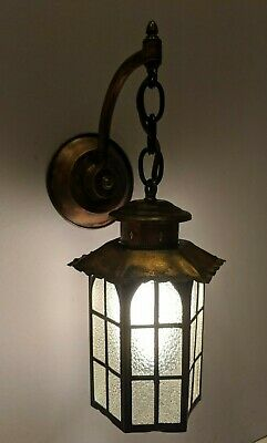 1930's-50's Copper Wall Sconce, Entrance or Porch Light, restored & rewired