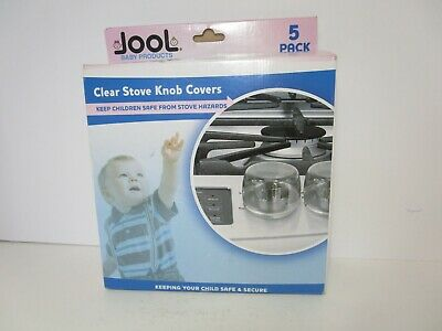 Jool Clear Stove Knob Covers Child Safety Guards Large (5 Pack) FREE SHIPPING