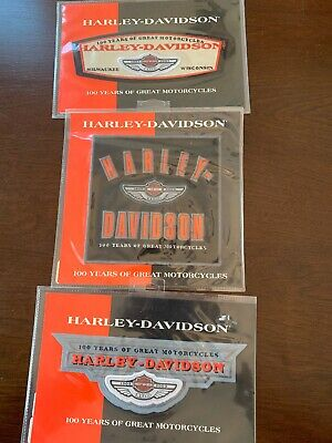 HARLEY DAVIDSON 100TH ANNIVERSARY BADGE PATCH AUTHENTIC VEST JACKET
