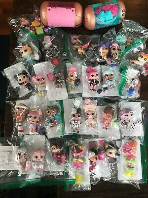 HUGE LOL Surprise Doll Lot 32 Tot Dolls & Animals Baby Crystal Queen Accessories