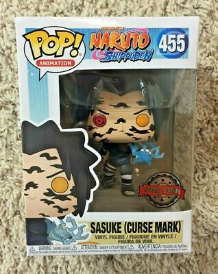 Funko Pop! Sasuke Curse Mark Naruto Shippuden Convention #455 Limited Exclusive