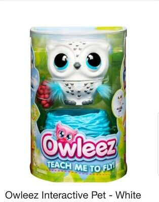 Owleez Interactive Flying Pet OWL Toy Drone Helicopter - WHITE - NEW ~ PREORDER