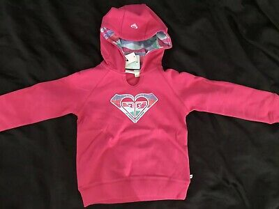 Girls Roxy Size 6 Hoodie Hooded Jumper Jacket Bnwt