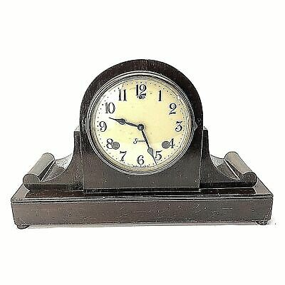 Antique Sessions Wooden Wind-up Mantle Shelf Clock 8 Day Time Strike USA Working