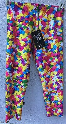 $52 New Zara Terez Multicolor Star Design Capris Girls Size XL Or 16