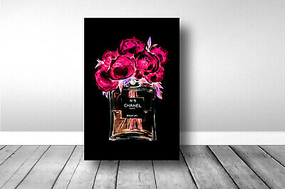 COCO CHANEL N°5 NEON PERFUME,ART,CANVAS,POSTER PRINTS,FRAMED,UNFRAMED from A3
