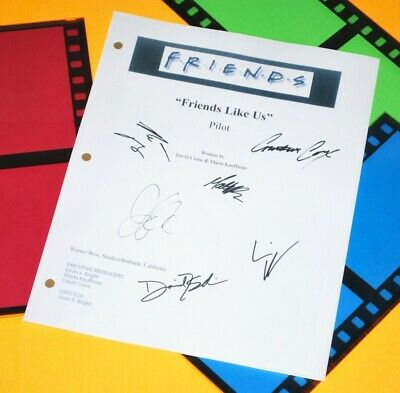 FRIENDS SIGNED SCRIPT The One With The Flashback Jennifer