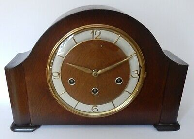 Superb Schatz W3 Model German Art Deco Triple Chiming Mantel clock working 3012