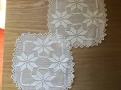 2 Vintage hand crocheted doilies