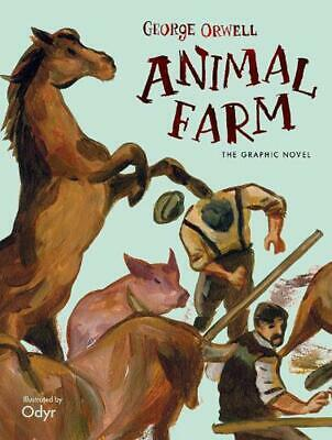 Animal Farm: The Graphic Novel by George Orwell Hardcover Book Free Shipping!