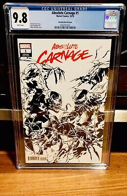 Absolute Carnage #1 CGC 9.8 Sketch B&W Deodato Party Variant Cates MARVEL NM
