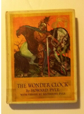 'RARE' THE WONDER CLOCK by HOWARD PYLE CHILDRENS BOOK 1915
